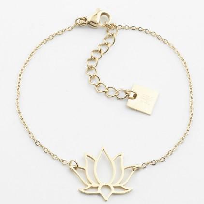 Bracelet Lotus – Acier doré - ZAG