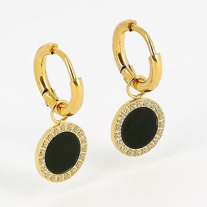 Boucles d'oreilles Linda – Acier doré - ZAG