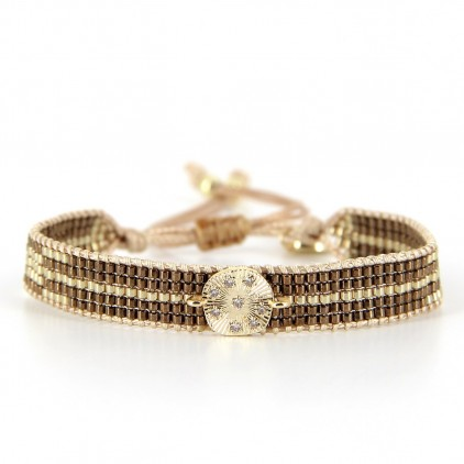 Bracelet Golden Almond - BELLE MAIS PAS QUE