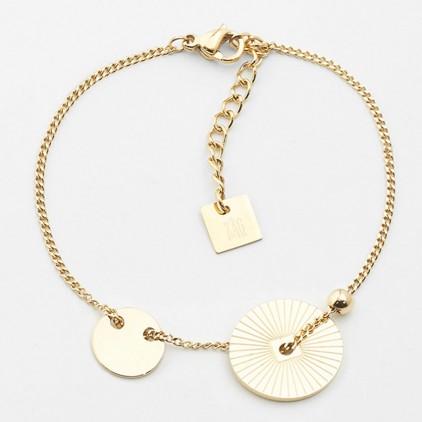 Bracelet Saturne – Acier doré - ZAG